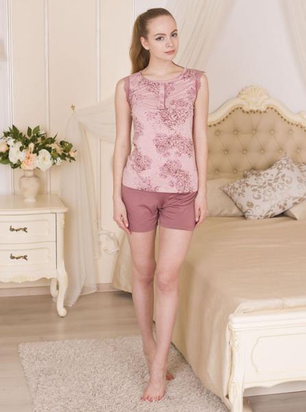 Пижама из вискозы Rose garden