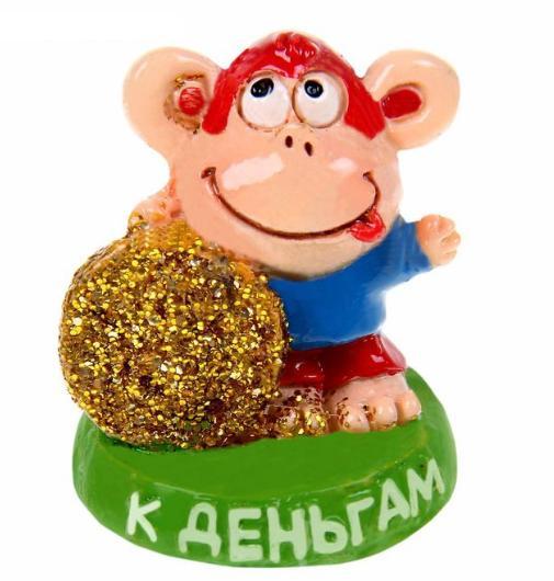 "Фигурка обезьянки ""К деньгам"", 3,5 см"