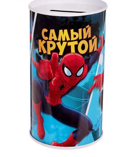 """Копилка """"Самый крутой"""", Человек-паук, 6,5 х 12 см"""