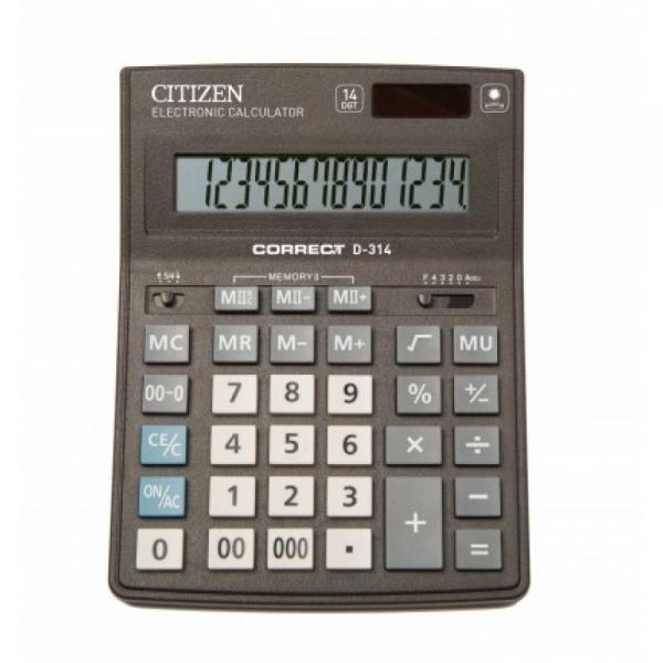 Фото Калькуляторы, носители информации (ЦЕНЫ БЕЗ НДС) Калькулятор настольный 14р. CORRECT D-314 (14-ти разрядный)