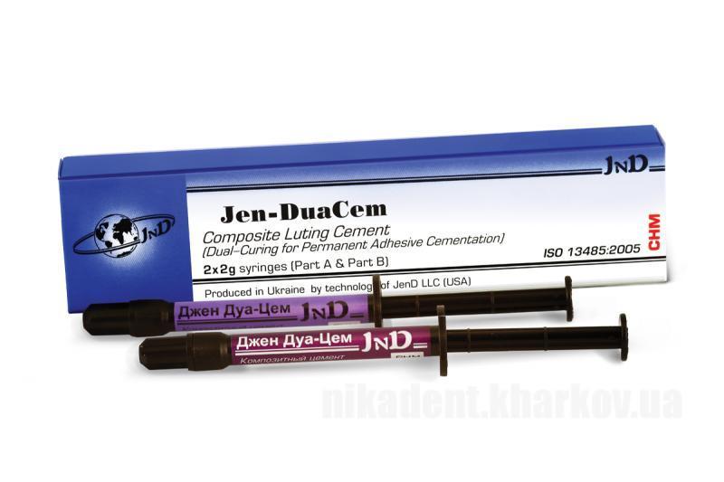 Фото Для стоматологических клиник, Материалы, Цементы Jen-DuaCem (Джем-Дуацем) Универсальный полимерный цемент 2х2г.