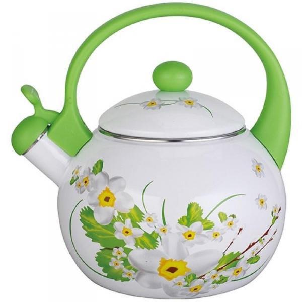 Чайник эмалированный со свистком Maestro 2,5 л. MR 1325