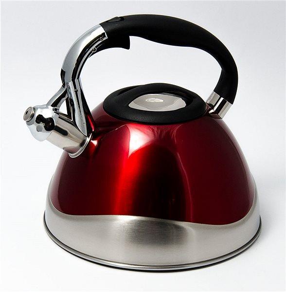 Яркий цветной чайник со свистком Maestro на 3,0 л. MR 1338с