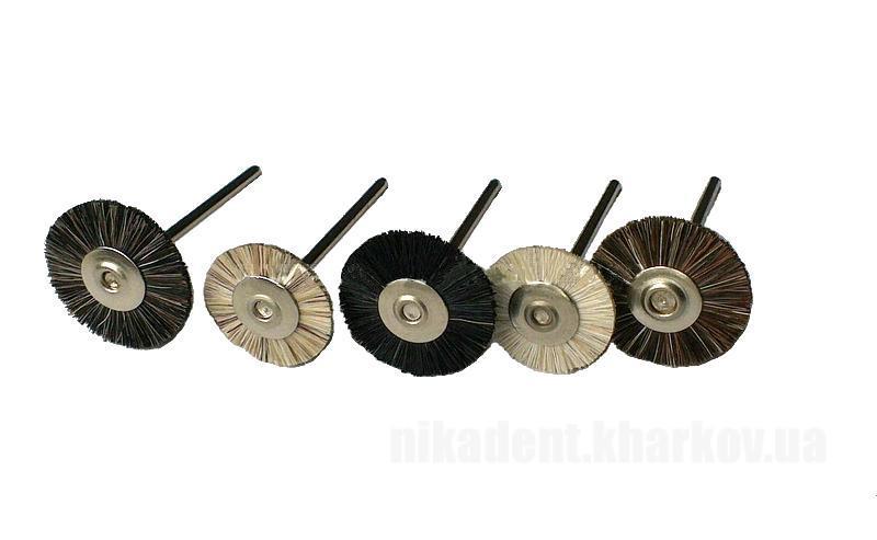 Фото Для зуботехнических лабораторий, АКСЕССУАРЫ, Полиры, щетки, диски Щетка-крацовка  натуральная щетина