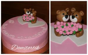Фото Торты, Праздничные торты Торт на ситцевую свадьбу