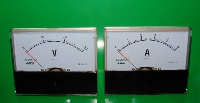 Вольтметр 30 V + Амперметр 5 A комплект под блок питания