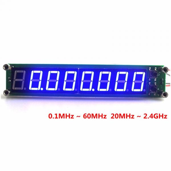 Частотомер 0.1 до 60 МГц 20 МГц до 2400 МГЦ 2.4 ГГц синий