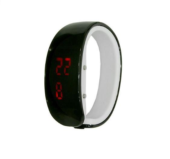 Часы-браслет электронные черные 5*7см 20 см