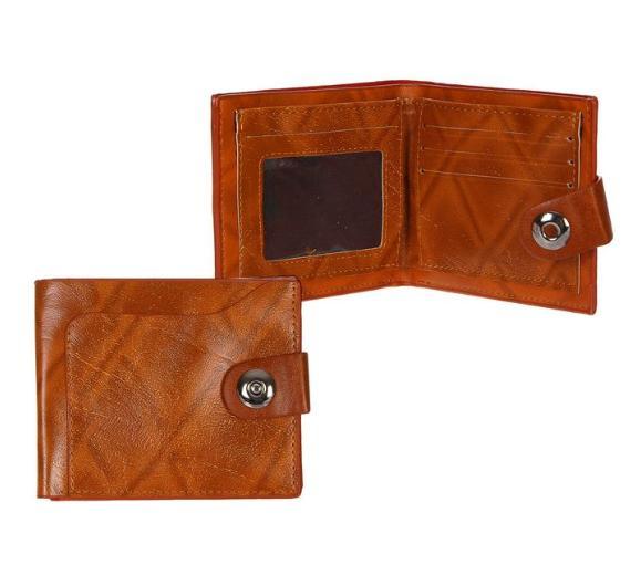 """Портмоне мужское на магните """"Дэвид"""", 3 отдела, отдел для карт, 1 наружный карман, коричневое"""