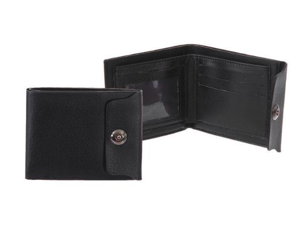 """Портмоне на магните """"Джон"""", 3 отдела, отдел для карт, чёрный"""