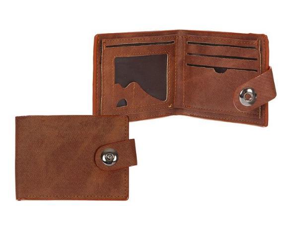 """Портмоне мужское на магните """"Жак"""", 3 отдела, отдел для карт, 1 наружный карман, коричневое"""