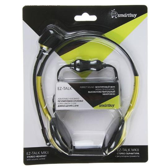 Гарнитура SmartBuy EZ-TALK MKII, кабель 2 м,