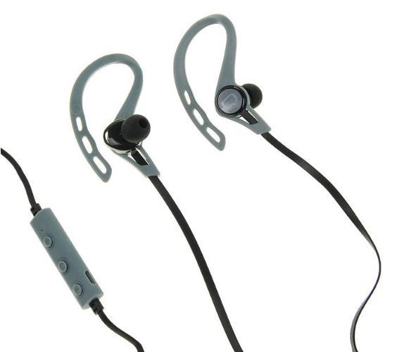 Беспроводная гарнитура Qumo Freedom Sport, Bluetooth 4.2, до 6 ч в режиме разговора, серая