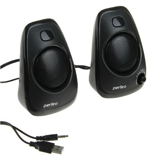 Колонки Perfeo DELTA 2.0, 2х3 Вт, USB, чёрные