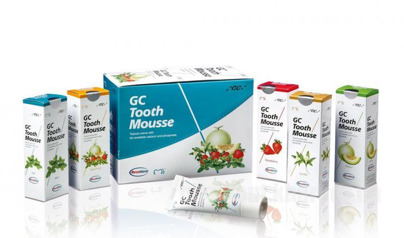 Фото Для стоматологических клиник, Материалы, Лечебные и профилактические материалы GC Tooth Mousse (Тусс Мусс - гель для восстановления зубной эмали) 35мл.