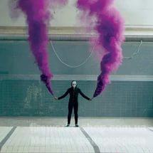 Фото Цветные дымы дым пурпурный
