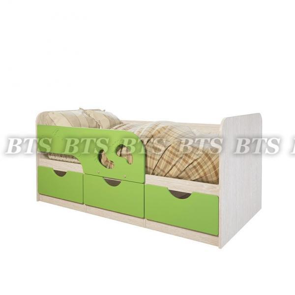 """Детская кроватка Минима """"Лего""""(«Лайм глянец»)(BTS МЕБЕЛЬ)"""