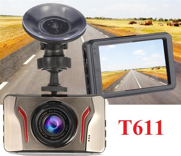 """T611 Автомобильный видеорегистратор Экран 3.0 """" дюйма Видео Камера FULL HD 1080P G-сенсор Обнаружение движения Циклическая запись Ночное видение Оригинал"""