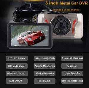 Фото Автомобильные видеорегистраторы T611 Автомобильный видеорегистратор Экран 3.0
