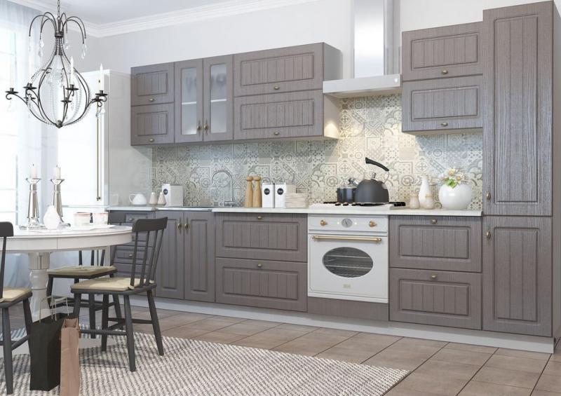 Кухня Ницца Серый (ДСВ мебель)