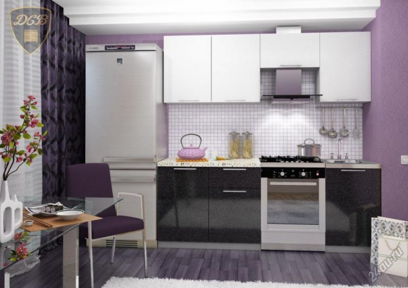 Фото Кухни модульные Кухня Олива Черный/Белый (ДСВ мебель)