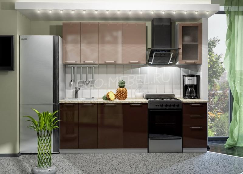 Фото Кухни модульные Кухня Олива Капучино/Шоколад (ДСВ мебель)