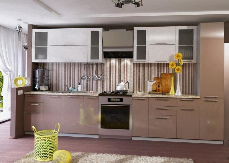 Фото Кухни модульные Кухня Олива Капучино/Белый (ДСВ мебель)