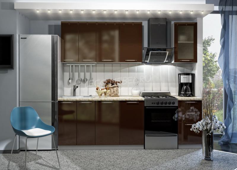 Фото Кухни модульные Кухня Олива Шоколад (ДСВ мебель)