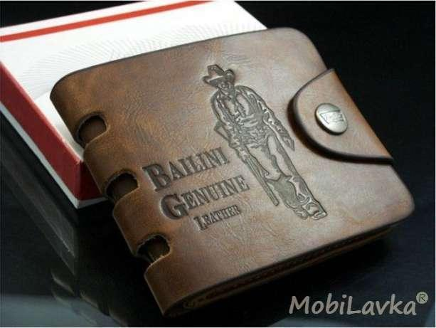 Фото  Мужской кошелек бумажник BAILINI маленький