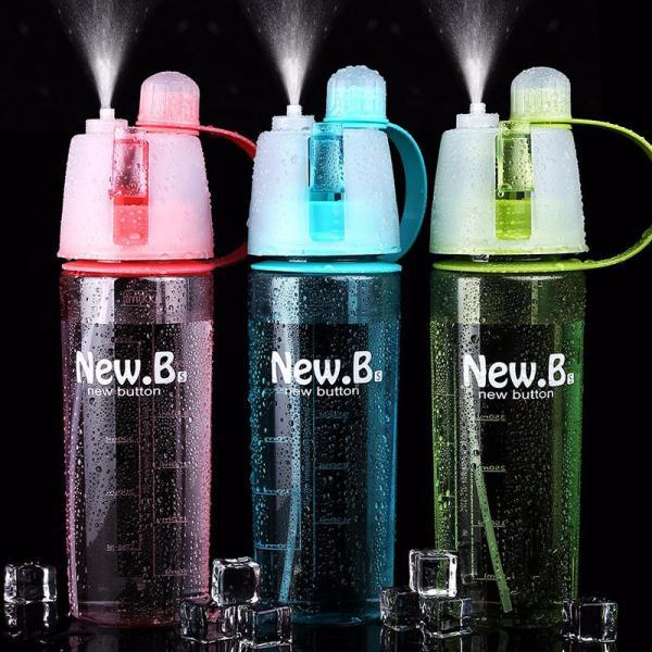 Бутылка спортивная New B. Bottle с распылителем 600 мл - №1 помощник летом
