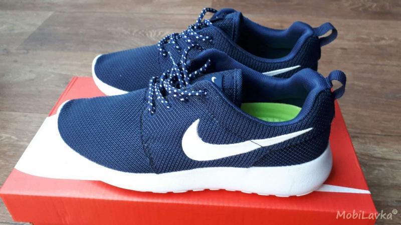 Фото СПОРТИВНАЯ ОБУВЬ Nike Roshe Run Blue White (36-41)