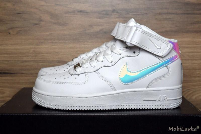 Nike Air Force 1 Mid White Holographic (36-40)