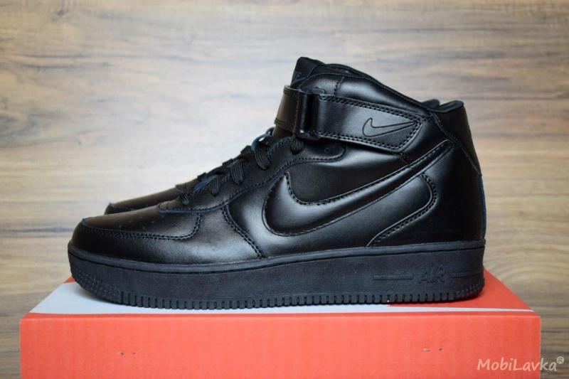 Nike Air Force 1 Mid Black (41-46)