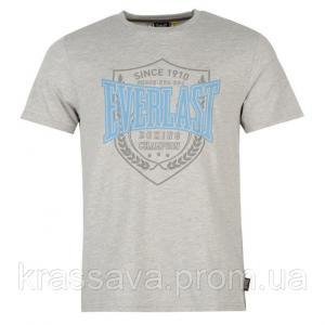 Фото Мужская футболка, майка, поло Футболка мужская Everlast, оригинал, серая, XL/52