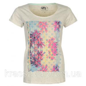 Фото Женская футболка, поло, майка Футболка женская Ocean Pacific, оригинал, розовая, М/12/46