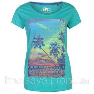 Фото Женская футболка, поло, майка Футболка женская Ocean Pacific, оригинал, голубая, М/12/46