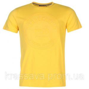 Фото Мужская футболка, майка, поло Футболка мужская Pierre Cardin, оригинал, желтая,  М/48