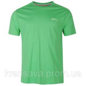 Фото Мужская футболка, майка, поло Футболка мужская Slazenger, оригинал, зеленая,  XL/52
