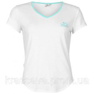 Фото Женская футболка, поло, майка Футболка женская Lonsdale, оригинал, белая, L/14/48