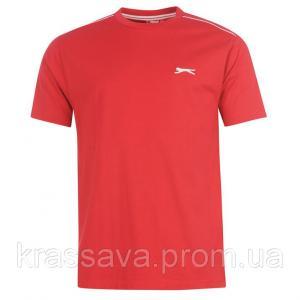 Фото Мужская футболка, майка, поло Футболка мужская Slazenger, оригинал, красная,  M/48