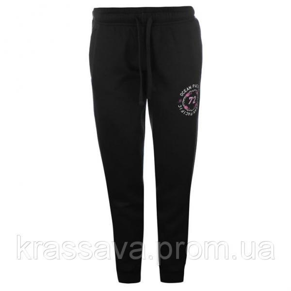 Спортивные штаны женские на флисе Ocean Pacific, оригинал, черные, S/10/44