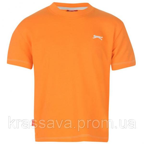 Футболка для мальчика Slazenger, оригинал, оранжевая, 5-6 лет, 110-116 см/XXSB