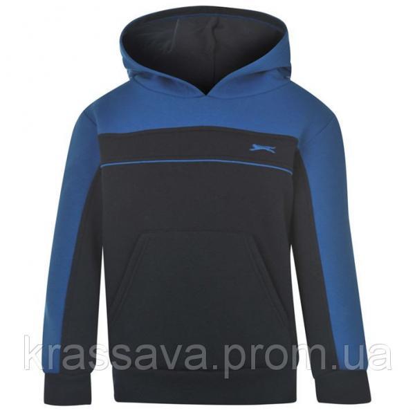 Толстовка для мальчика на флисе Slazenger, оригинал, темно-синий с синим, 3-4 года/98-104 см