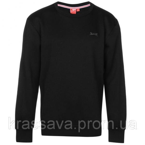 Толстовка для мальчика на флисе Slazenger, оригинал, черная, 11-12 лет/146-152 см/LB