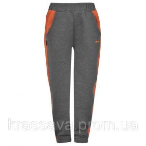 Фото Спортивные штаны для мальчиков Спортивные штаны для мальчика на флисе Slazenger, оригинал, темно-серые с оранжевым, 2-3 года/92-98 см