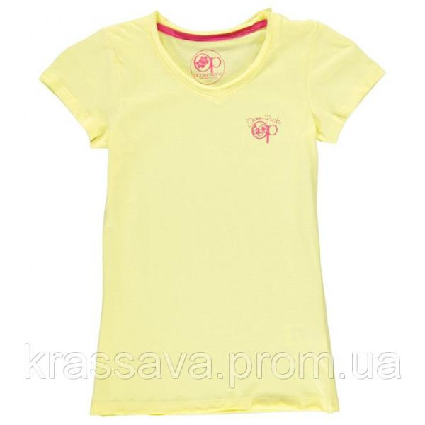 Футболка для девочки Ocean Pacific, оригинал, желтая, 7-8 лет/122-128 см/SG