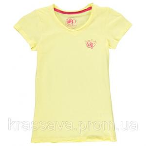 Фото Футболка,борцовка,майка для девочек Футболка для девочки Ocean Pacific, оригинал, желтая, 7-8 лет/122-128 см/SG