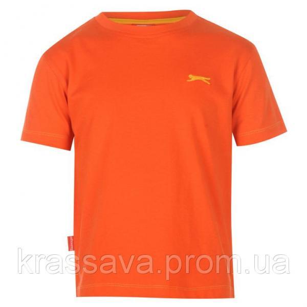 Футболка для мальчика Slazenger, оригинал, ярко-оранжевый, 5-6 лет, 110-116 см/XXSB