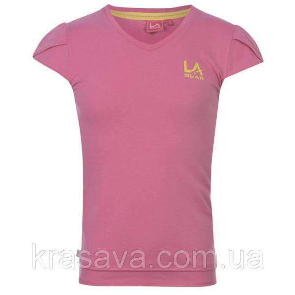 Футболка для девочки LA Gear, оригинал, розовая, 7-8 лет/122-128 см/SG
