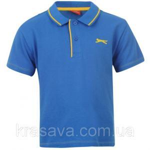 Фото Футболка,борцовка,майка для мальчиков Поло для мальчика Slazenger, оригинал, синее, 5-6 лет, 110-116 см/XXSB, футболка